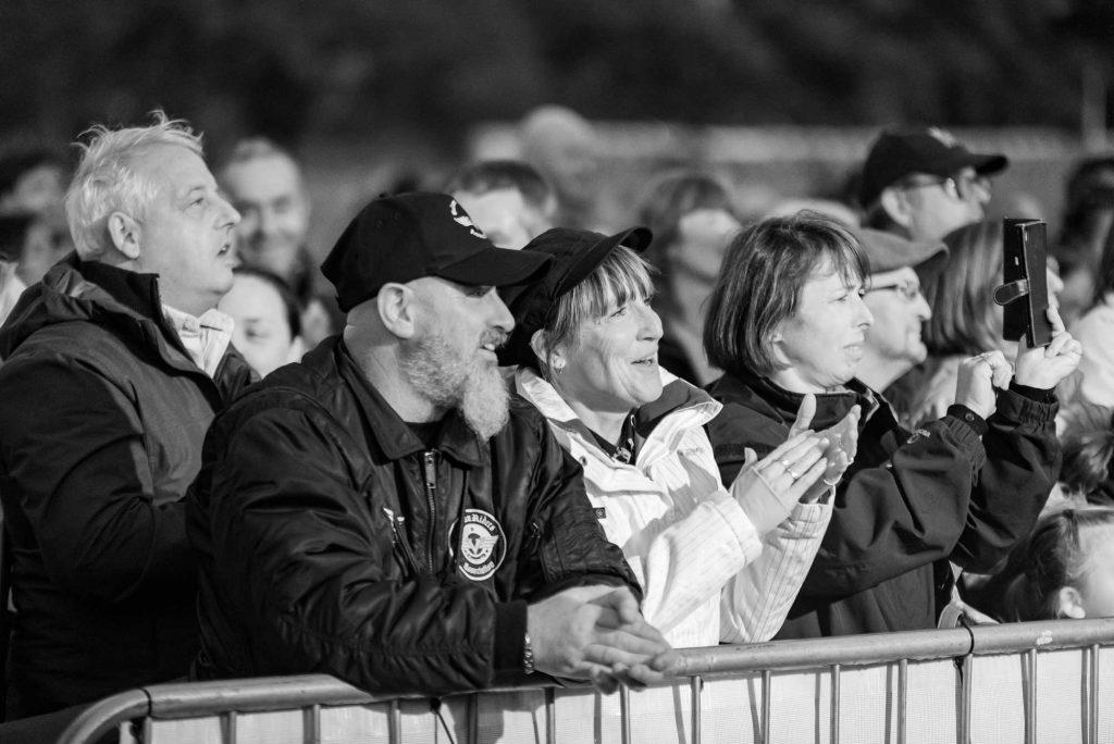 Crowds watching entertainment at York Balloon Fiesta 2019